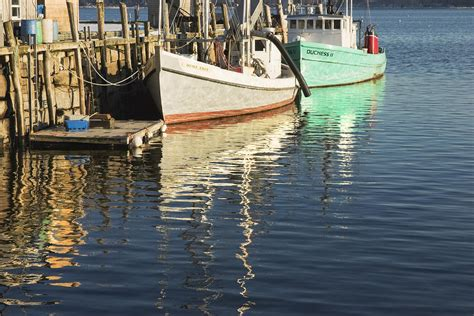 Boat Covers Maine by Rockland Maine Fishing Boats And Harbor Photograph By
