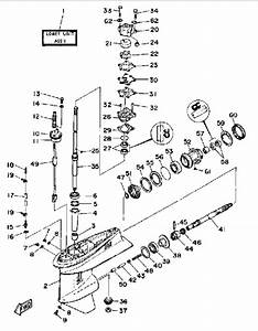 1988 Yamaha Lower Drive 1 Parts For 40 Hp 40elg Outboard Motor