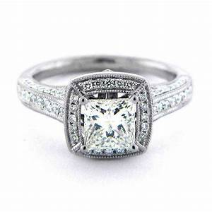 Square engagement rings for women wedding and bridal for Square wedding rings for women