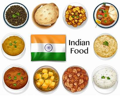 Indian Vector Dish Different Graphics Illustration Clipart