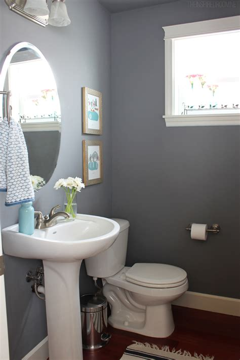 townhouse powder room update and city print giveaway