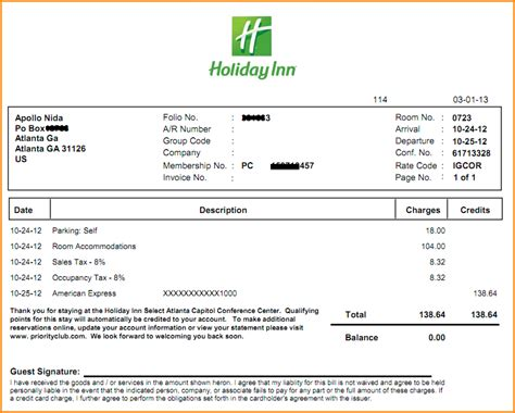 hotel receipt template 10 hotel receipt template invoice template