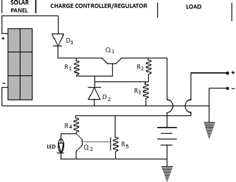 circuit diagram   solar power supply