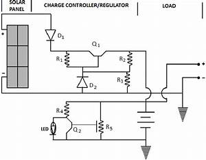 Circuit Diagram Of The Solar Power Supply
