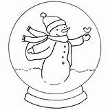 Coloring Snow Snowglobe Globe Globes Snowman Christmas Winter Template Drawing Bestcoloringpagesforkids Draw Sheets Cartoon sketch template