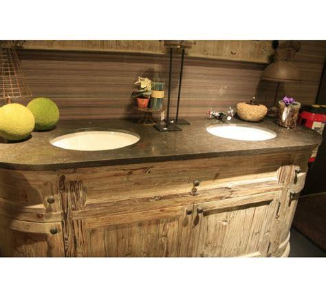 canape cuir rustique meuble de salle de bain avec miroir quot eglantine quot 3741