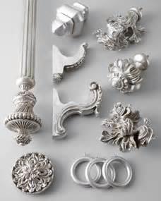 silver leaf curtain hardware