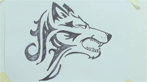 draw  tribal wolf head tattoo rsm theb  youtube