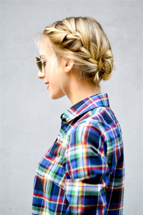french bun hair braided double tutorial hairstyles days holiday summer updo braid katiesbliss