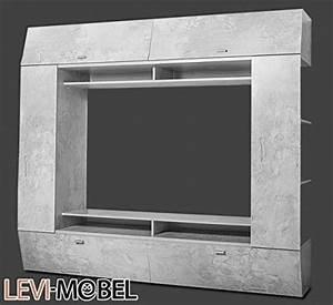 Tv Lowboard Beton : mediawand tv lowboard regal wohnzimmer wohnwand beton optik matt neu 643638 m bel24 ~ Indierocktalk.com Haus und Dekorationen