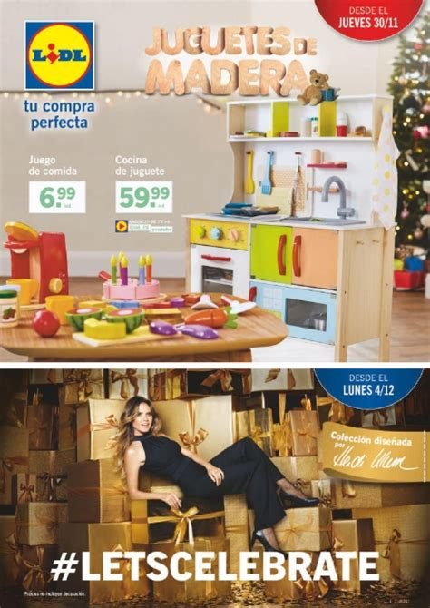 catalogo lidl jueves  noviembre  juguetes madera