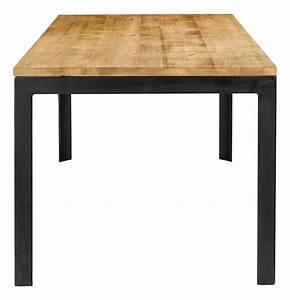 Table En Metal : table repas 180 cm en bois et pieds metal city grenier alpin ~ Teatrodelosmanantiales.com Idées de Décoration