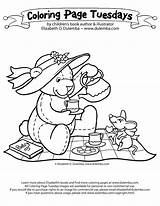 Tea Coloring Pages Teddy Bear Picnic Boston Drawing Nancy Fancy Colouring Sheets Adult Birthday Template Bears Adults Dulemba Sketch Ruxpin sketch template