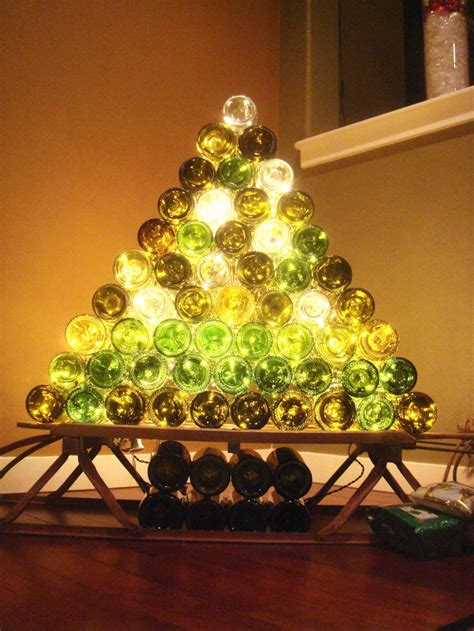 christmas trees made of bottles 15 and wine inspired diy decorations