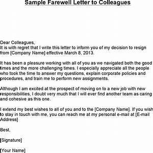 farewell letter download free premium templates forms With farewell letter to colleagues template