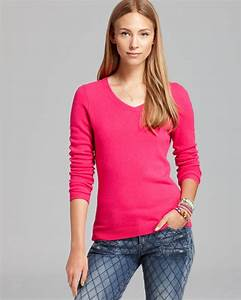 C By Bloomingdale 39 S Cashmere V Neck Sweater In Pink