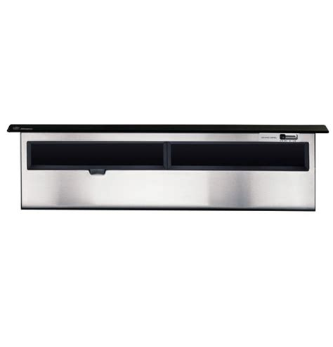 ge monogram  black telescopic downdraft vent hood zvbbbbb ge appliances