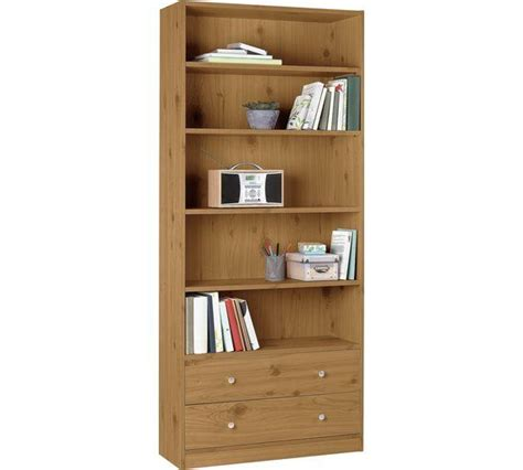 Buy Home Maine 2 Drawer Extra Deep Bookcase  Oak Effect