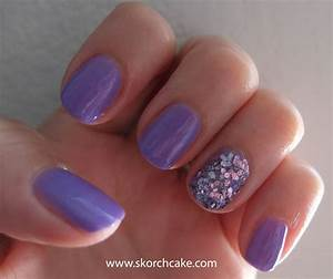 Light Purple Nails With Glitter | www.pixshark.com ...