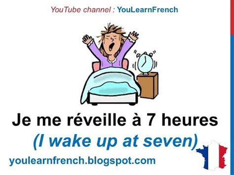 french lesson  describe  routine daily life habits