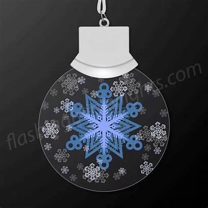 Snowflake Necklace Led Snow Christmas Animated Flashingblinkylights