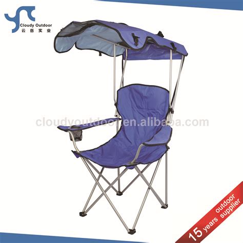 chaise de plage foldable sunshade folding cing chair with canopy