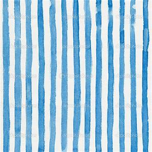 Watercolor striped background with vertical blue stripes ...