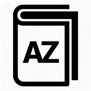 A To Z  A Z  Book  Booklet  Guide  Handbook  Manual Icon