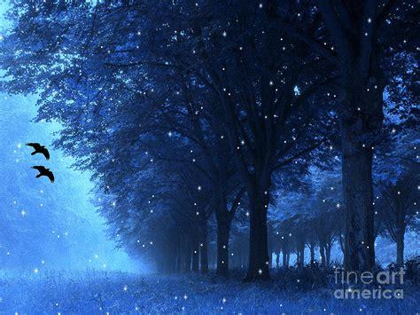 Surreal Fantasy Dreamy Blue Nature Landscape Photograph By