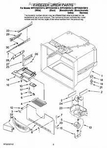Parts For Maytag Mff2558vem10  Freezer Liner Parts