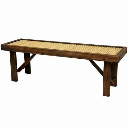 Bench Bamboo Japanese Oriental Wood Furniture Frame