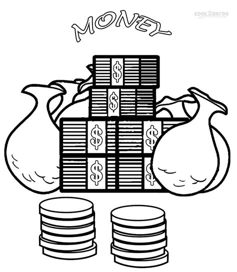 color money money coloring pages to and print for free