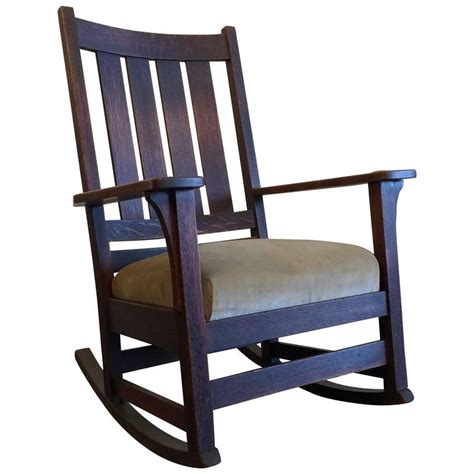 original l jg stickley mission rocking chair oak for sale