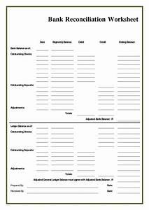 28+ [ Reconciling An Account Worksheet ] | Balance Sheet ...