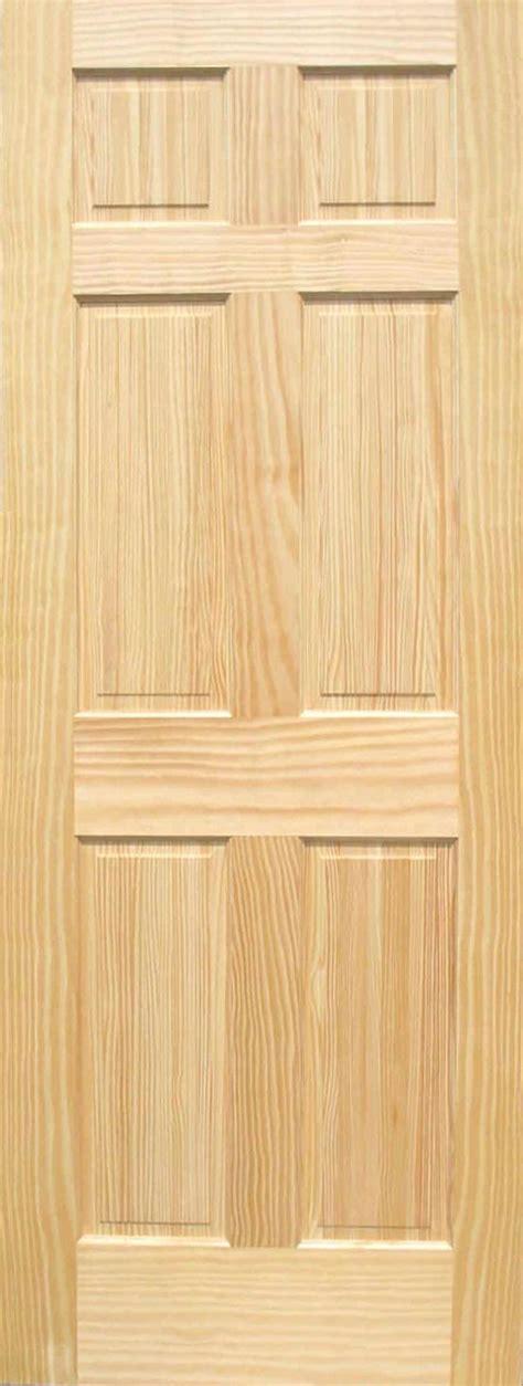 6 Panel Wood Interior Doors by Pine 6 Panel Wood Interior Doors Homestead Doors
