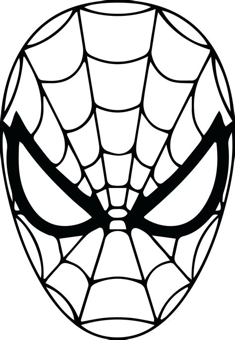 colouring in templates spiderman printable spider man mask printable template