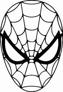 Printable Spider Man Mask Printable Template