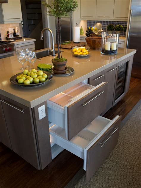 kitchen island with drawers stainless steel backsplash tiles pictures ideas from