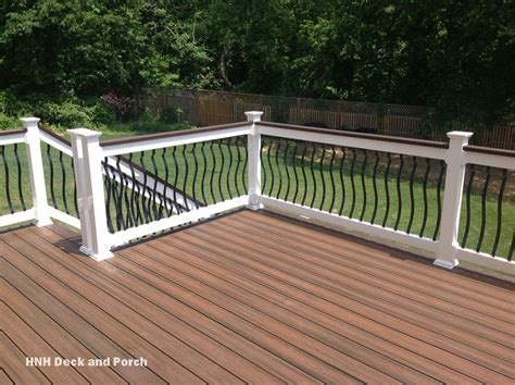 deck railing trexcompany decking with black brogue aluminum balusters