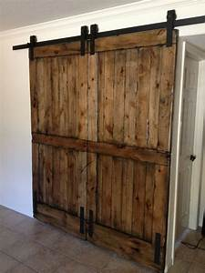 knotty alder double sliding barn door double sliding With barn wood bifold doors