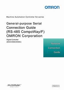 Connection Guide  Rs F  Omron Corporation