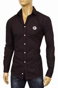 Mens Designer Clothes   VERSACE Mens Dress Shirt #144