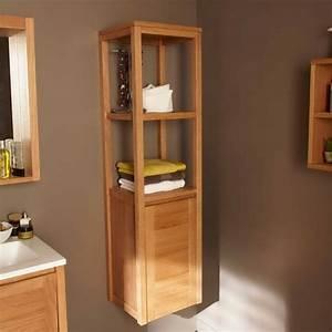 cuisine petit meuble salle de bain blanc pas cher phioo With petit meuble salle de bain teck