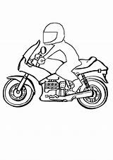 Coloring Motor Pages Bike Colouring Motorbike sketch template