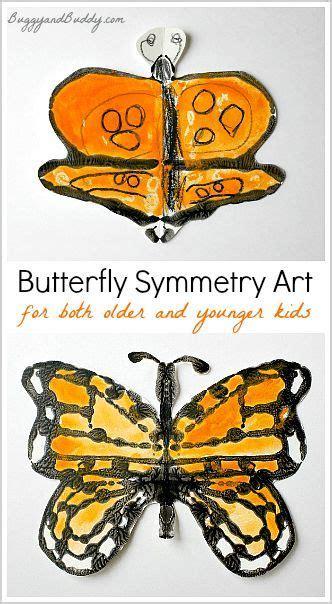 monarch butterfly symmetry art  kids