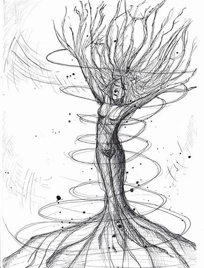 Mother Drawing Nature Sketch Drawings Pencil Earth
