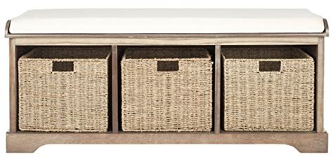 Safavieh American Home Collection by Safavieh American Home Collection Lonan Storage Bench Grey