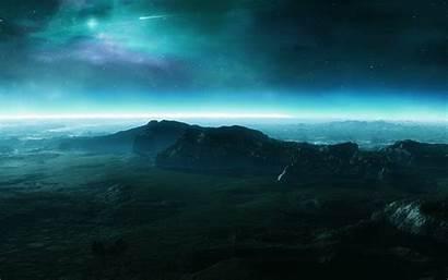 Sky Night Mountain Wallpapers Stars Backgrounds Desktop