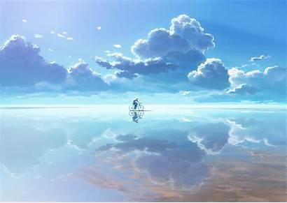Clouds Reflection Bicycle Px Desktop Fahrrad Wolken