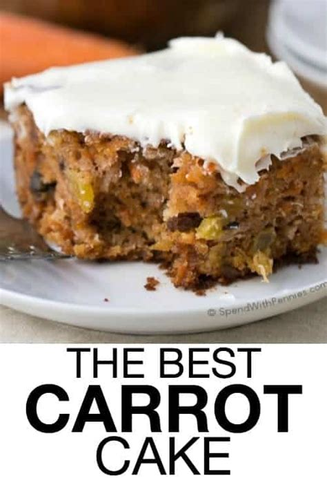 carrot cake recipe recipes moist easy cakes dessert quick sheet spendwithpennies homemade desserts cream cheese frosting pineapple scratch coconut cooking
